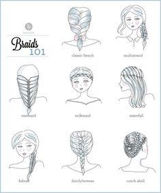 I want pretty: Hair - Tutoriales varias trenzas !
