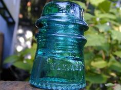 Hemingray Teal Glass Insulator: adore things from the 1950's I wonder why....