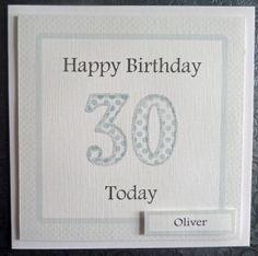 Personalised Male 30th Handmade Birthday Card - SC65 £2.75