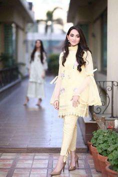 #dailystylish #highfashion #bridal #fashion #palazzo #salwarsuit #embroidery #pants #velvet #kurta #bride #velvet #salwarsuit #salwarkameez #lehnga #sare #anarkali #kurti #sharara #lehngacholi #tunic #shalwar Simple Pakistani Dresses, Pakistani Fashion Casual, Ethnic Fashion, Indian Fashion, Stylish Dresses For Girls, Simple Dresses, Beautiful Dresses, Casual Dresses, Casual Clothes