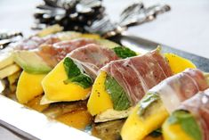 Stranded in Cleveland: Prosciutto-Wrapped Mango and Avocado Bites | Recipe | Mango Hors D'oeuvre