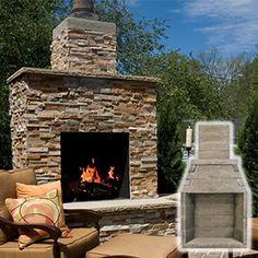 42 In Firerock Masonry Outdoor Wood Burning Fireplace