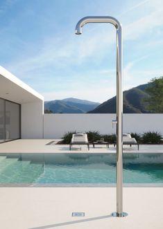 Pool Shower, Garden Shower, Indoor Outdoor Living, Outdoor Pool, Pool Decks, Sauna, Wind Turbine, Pool Designs, Architecture