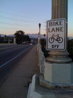 DIY Bike Lane (& proud of it)    Guerrilla Urbanism « Munson's City
