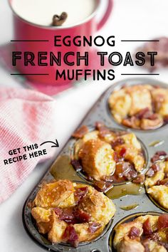 Savor the sweetest time of the day with this wholesome holiday favorite made with real milk! Eggnog French Toast, French Toast Muffins, Cheesecakes, Brunch Recipes, Breakfast Recipes, Breakfast Ideas, Crockpot, Christmas Breakfast, Christmas Brunch