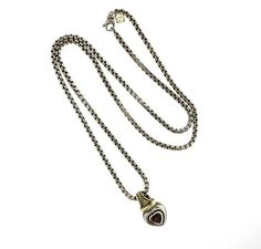 David Yurman Sterling 14k Gold Gemstone Heart Pendant Necklace Featured in our upcoming auction on October 20!