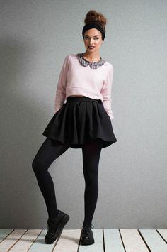 Jupe culottes black jupe culottes pleated by LeMoutonBleuShop