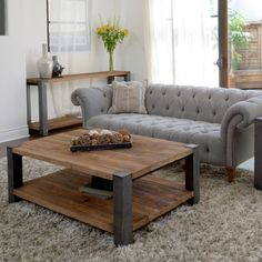 Willow Iron Leg Coffee Table | Overstock.com Shopping - The Best Deals on Coffee, Sofa & End Tables