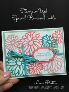 Stampin'Up! Special Reasons bundle, special reasons stamp set, stylish stems framelits, occasions catalog, handstamped, papercrafting, DIY