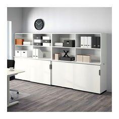 GALANT Aufbewahrung mit Schiebetüren - weiß - IKEA