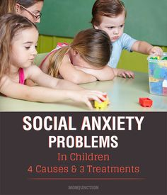 Social Anxiety Problems In Children: Social Anxiety can be performance-oriented, where the child is uncomfortable in doing even the simplest tasks like asking help from a sales person in public. Avoiding social gatherings or fearing to go to school is also another form of anxiety known an interactional social anxiety.