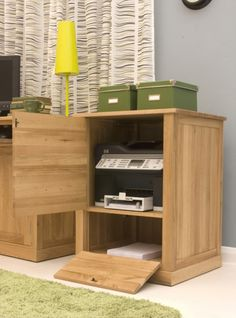 the mobel oak printer cupboard is a practical contemporary piece that will enable you to