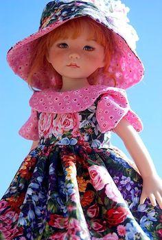 "Midnight Roses for 13"" Effner Little Darling by Sharon | eBay"