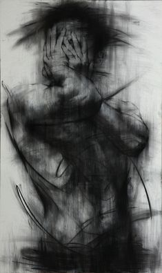 Charcoal Drawing. Smeared beautifully. Conveys a powerful message. Usually not a fan of dark drawings but this is magnificent
