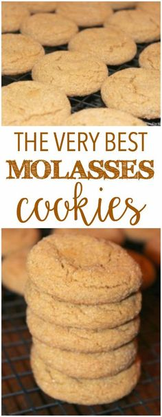 These molasses cookies are one of the best cookie recipes ever, definitely one…