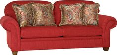Love the red and paisley on this Mayo Furniture Sofa!
