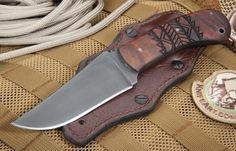 Winkler Belt Knife - Tribal Maple - Caswell Finish