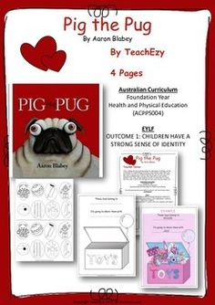 Book Activity Pig the Pug Teaching Resource Preschool Literacy, Literacy Activities, Kindergarten Activities, Teaching Resources, Teaching Ideas, Relief Teacher, Health And Physical Education, Elementary Library, Author Studies