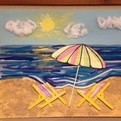 Summer tactile project. #activities #recreationtherapy #montessori #recreation #LTC  #summer #ideas #MemoriesByNicole