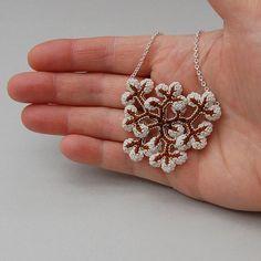 Botanique bijoux collier de lichen crochet freeform par elinart, £46.00