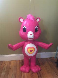 DIY care bear piñata wonderheart bear #madebymemayrarueda