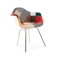 Eames Style Patchwork DAX Chair