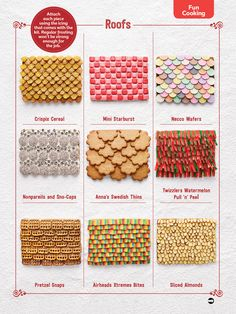 Gingerbread House Roofs–My mom taught me to use Nilla Wafers! We've also used Necco wafers :)
