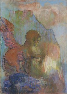 'Pégase' (ca.1895-1900) by Odilon Redon