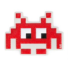 ANYA HINDMARCH Space Invaders Leather Sticker (€52) ❤ liked on Polyvore featuring accessories and anya hindmarch