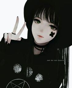 Dark Anime Girl, Manga Girl, Gothic Anime Girl, Emo Anime Girl, Pretty Anime Girl, Beautiful Anime Girl, Gothic Lolita, Anime Neko, Kawaii Anime Girl