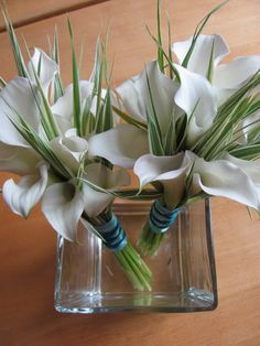 Callas for the bridesmaids, with Ornamental Grasses