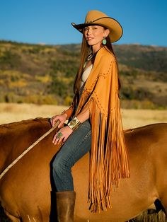 ~ Brit West's slammin' Chickasaw Wrap which also doubles as a skirt.  Ingenious design and just L=O=V=E the fringe! ~