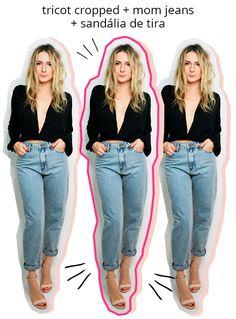 Quer um visual mais despojado? Aposte no tricot com uma boa mom jeans.