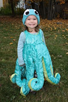 Octopus Costume - I like the stuffed legs made into a dress and the hat.  sc 1 st  Pinterest : kids octopus costume  - Germanpascual.Com