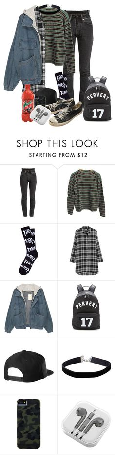 """Untitled #58"" by rareleey on Polyvore featuring Vetements, Prada, HUF, DKNY, Givenchy, Miss Selfridge, Case-Mate and PhunkeeTree"