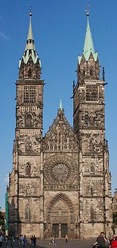 Nürnberg – Wikipedia St.-Lorenz-Kirche, Westfassade Church home to some of my Leitzel family from the 1500's until their immigration to America on 24 Sep 1753.