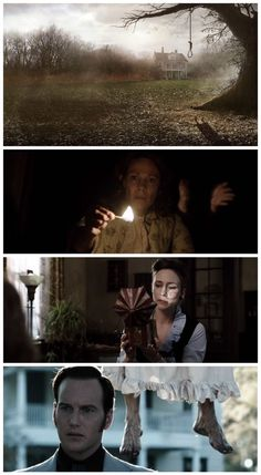 Invocação do Mal-Conjuring d. James Wan, d. John R. Best Horror Movies, Classic Horror Movies, Scary Movies, The Conjuring Annabelle, Wallpaper Collage, Wallpaper Aesthetic, Cinematic Photography, Light Film, The Conjuring
