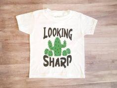 Looking sharp , boys cactus shirt , baby shirt , toddler shirt Baby Shirts, Kids Shirts, T Shirts For Women, Lemon Shirt, Lil Sweet, Halloween Shirts Kids, Cactus Shirt, Summer Shirts, Mommy And Me