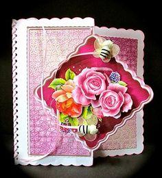 Card Gallery - Blackberry Roses Offset Diamond Card Mini Kit