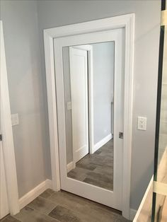 Add A Full Length Mirror Into Madison Hollow Pocket Door From Home