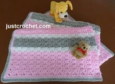 Free crochet baby pattern for baby afghan blanket http://www.justcrochet.com/blanket-usa.html #justcrochet #patternsforcrochet