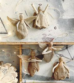 Roost Driftwood Angel Ornament, Set/15 – Modish Store