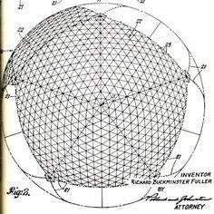 Buckminster Fuller Geodesic dome drawing