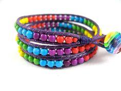 LGBT Gay Pride Bracelet Rainbow Bracelet by JadeWalkStudios