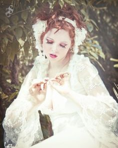 Ophelia Embroidered Lace Romantic Gown Silent Shudder Photography