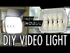 Cómo crear un kit de iluminación casero How-to: Powerful DIY video light (800 watt equivalent) http://www.youtube.com/watch?v=NFzIP_TN75A=player_embedded