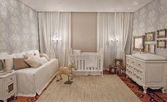 Quarto de bebê com decoração provençal