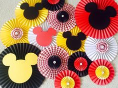 Mickey Mouse Themed Paper Fan Backdrop Set of 13 Mickey by LanvisB