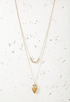 Faux Arrowhead Layered Necklace | Forever 21 - 1000161575