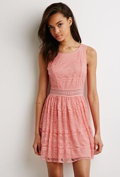 Lace Fit & Flare Dress | Forever 21 - 2000134970